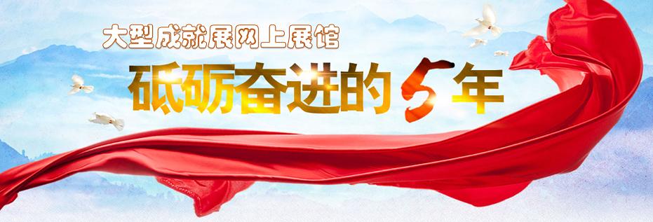 """大型成就展网上展馆""""砥砺奋进的5年"""""""